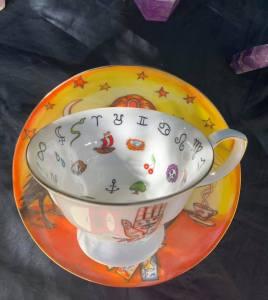 fortune teller teacup and saucer set