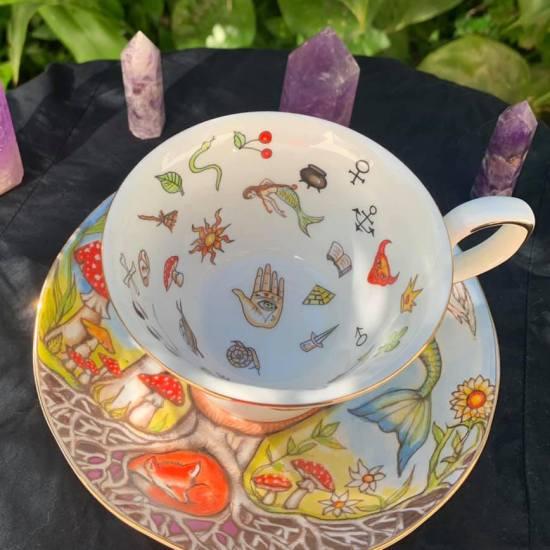 magic garden teacup and saucer set