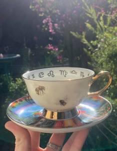 the path of pollen teacup and saucer set